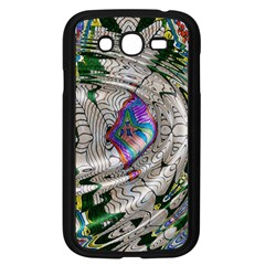 Water Ripple Design Background Wallpaper Of Water Ripples Applied To A Kaleidoscope Pattern Samsung Galaxy Grand Duos I9082 Case (black)