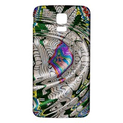 Water Ripple Design Background Wallpaper Of Water Ripples Applied To A Kaleidoscope Pattern Samsung Galaxy S5 Back Case (white)
