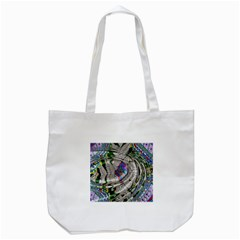 Water Ripple Design Background Wallpaper Of Water Ripples Applied To A Kaleidoscope Pattern Tote Bag (white) by BangZart