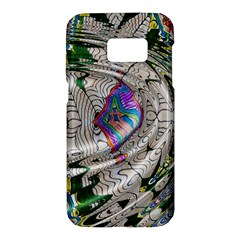 Water Ripple Design Background Wallpaper Of Water Ripples Applied To A Kaleidoscope Pattern Samsung Galaxy S7 Hardshell Case  by BangZart