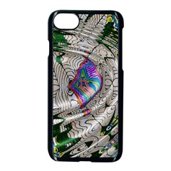 Water Ripple Design Background Wallpaper Of Water Ripples Applied To A Kaleidoscope Pattern Apple Iphone 7 Seamless Case (black) by BangZart