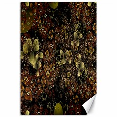 Wallpaper With Fractal Small Flowers Canvas 24  X 36  by BangZart