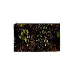 Wallpaper With Fractal Small Flowers Cosmetic Bag (small)  by BangZart