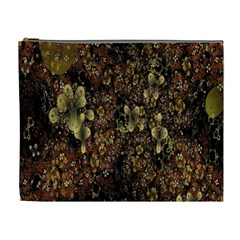 Wallpaper With Fractal Small Flowers Cosmetic Bag (xl) by BangZart
