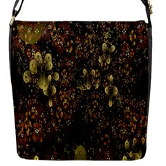 Wallpaper With Fractal Small Flowers Flap Messenger Bag (s)