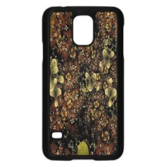 Wallpaper With Fractal Small Flowers Samsung Galaxy S5 Case (black) by BangZart