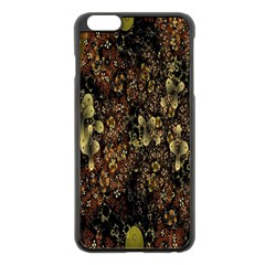 Wallpaper With Fractal Small Flowers Apple Iphone 6 Plus/6s Plus Black Enamel Case