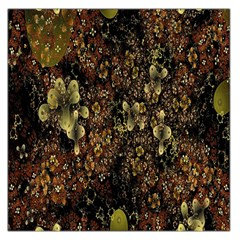 Wallpaper With Fractal Small Flowers Large Satin Scarf (square) by BangZart