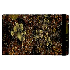 Wallpaper With Fractal Small Flowers Apple Ipad Pro 9 7   Flip Case by BangZart