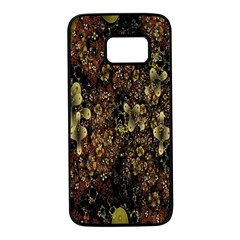 Wallpaper With Fractal Small Flowers Samsung Galaxy S7 Black Seamless Case