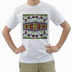 Kaleidoscope Background  Wallpaper Men s T Shirt (white) (two Sided) by BangZart