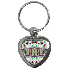 Kaleidoscope Background  Wallpaper Key Chains (heart)  by BangZart