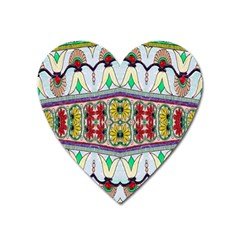 Kaleidoscope Background  Wallpaper Heart Magnet by BangZart