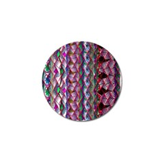 Textured Design Background Pink Wallpaper Of Textured Pattern In Pink Hues Golf Ball Marker (4 Pack) by BangZart