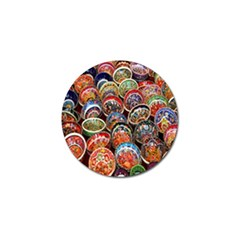Colorful Oriental Bowls On Local Market In Turkey Golf Ball Marker (10 Pack) by BangZart