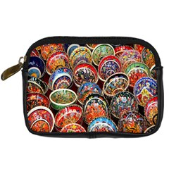 Colorful Oriental Bowls On Local Market In Turkey Digital Camera Cases by BangZart