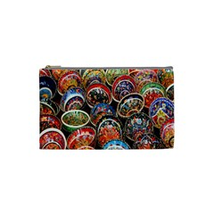 Colorful Oriental Bowls On Local Market In Turkey Cosmetic Bag (small)  by BangZart