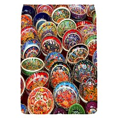 Colorful Oriental Bowls On Local Market In Turkey Flap Covers (s)  by BangZart