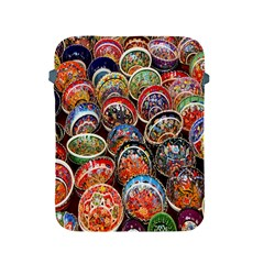 Colorful Oriental Bowls On Local Market In Turkey Apple Ipad 2/3/4 Protective Soft Cases by BangZart