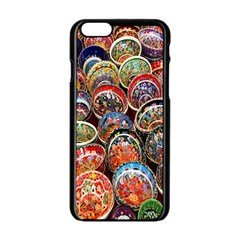 Colorful Oriental Bowls On Local Market In Turkey Apple Iphone 6/6s Black Enamel Case by BangZart