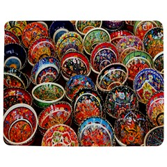 Colorful Oriental Bowls On Local Market In Turkey Jigsaw Puzzle Photo Stand (rectangular) by BangZart