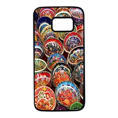 Colorful Oriental Bowls On Local Market In Turkey Samsung Galaxy S7 Black Seamless Case by BangZart