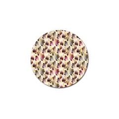 Random Leaves Pattern Background Golf Ball Marker by BangZart