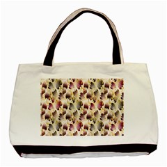Random Leaves Pattern Background Basic Tote Bag by BangZart