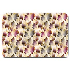 Random Leaves Pattern Background Large Doormat  by BangZart
