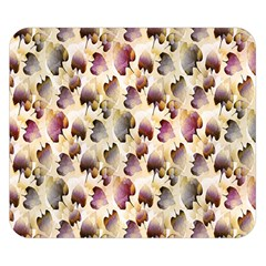 Random Leaves Pattern Background Double Sided Flano Blanket (small)
