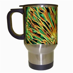 Unusual Peacock Drawn With Flame Lines Travel Mugs (white) by BangZart