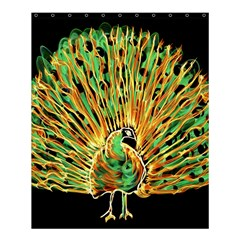 Unusual Peacock Drawn With Flame Lines Shower Curtain 60  X 72  (medium)  by BangZart