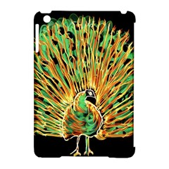 Unusual Peacock Drawn With Flame Lines Apple Ipad Mini Hardshell Case (compatible With Smart Cover) by BangZart