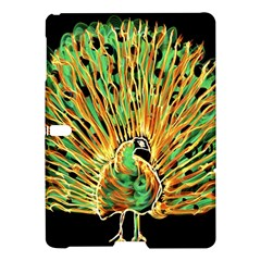 Unusual Peacock Drawn With Flame Lines Samsung Galaxy Tab S (10 5 ) Hardshell Case  by BangZart