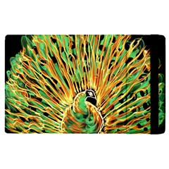 Unusual Peacock Drawn With Flame Lines Apple Ipad Pro 12 9   Flip Case by BangZart