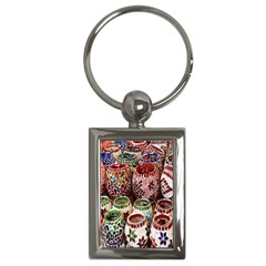 Colorful Oriental Candle Holders For Sale On Local Market Key Chains (rectangle)  by BangZart