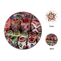 Colorful Oriental Candle Holders For Sale On Local Market Playing Cards (round)  by BangZart