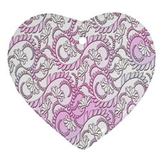 Floral Pattern Background Ornament (heart) by BangZart