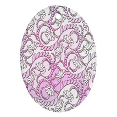 Floral Pattern Background Oval Ornament (two Sides) by BangZart
