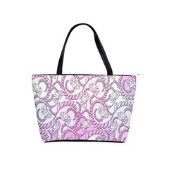 Floral Pattern Background Shoulder Handbags by BangZart