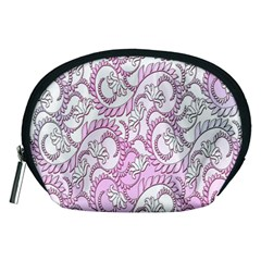 Floral Pattern Background Accessory Pouches (medium)