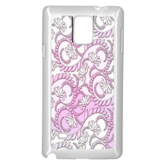 Floral Pattern Background Samsung Galaxy Note 4 Case (white) by BangZart
