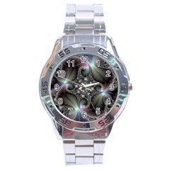 Precious Spiral Stainless Steel Analogue Watch by BangZart