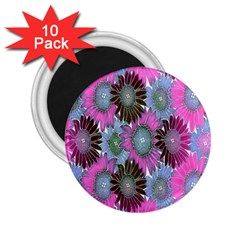 Floral Pattern Background 2 25  Magnets (10 Pack)  by BangZart