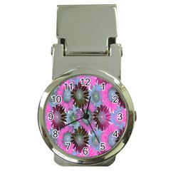 Floral Pattern Background Money Clip Watches by BangZart
