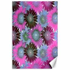 Floral Pattern Background Canvas 24  X 36  by BangZart