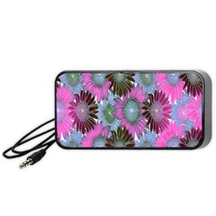 Floral Pattern Background Portable Speaker (black) by BangZart