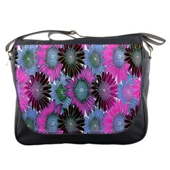 Floral Pattern Background Messenger Bags by BangZart