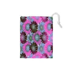 Floral Pattern Background Drawstring Pouches (small)  by BangZart