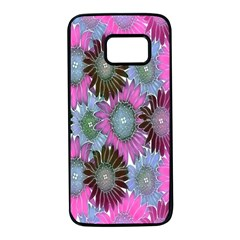Floral Pattern Background Samsung Galaxy S7 Black Seamless Case by BangZart